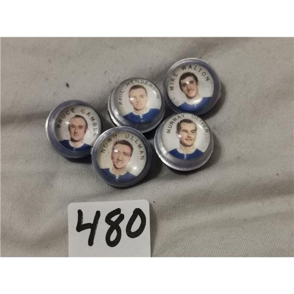 Rare 1960's plastic marble Toronto Maple Leafs players