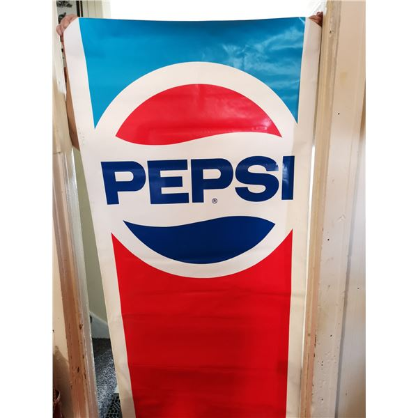 "Large Pepsi sticker 6' X 28"""