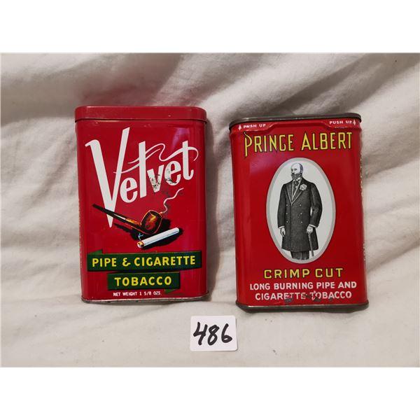 Prince Albert & Velvet pocket tobacco tins