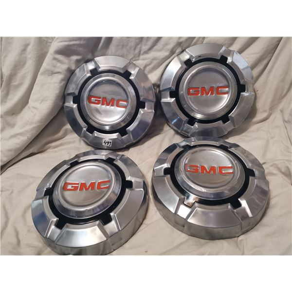 Set of 4 matching GMC hub caps