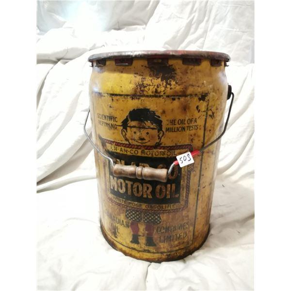 Enarco Canadian oil pail - rare