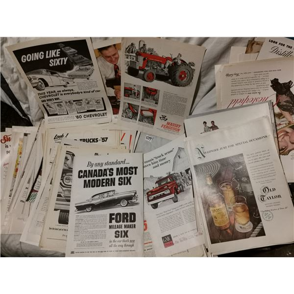 over 100 larger advertising magazine pages