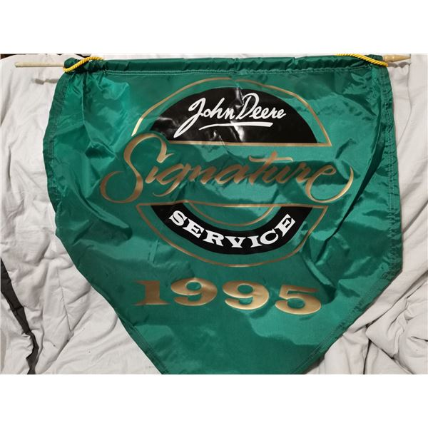 """1995 John Deere dealers banner 26"""" X 32"""""""