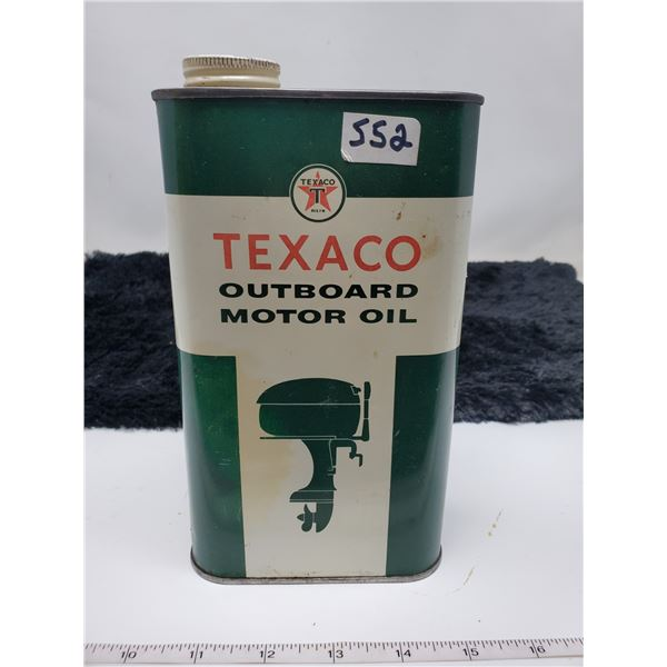 1959 empty Texaco motor oil outboard