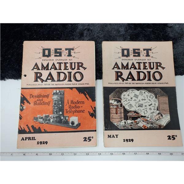 2 1929 amateur radio magazines