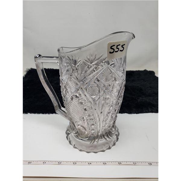 vintage fancy glass pitcher