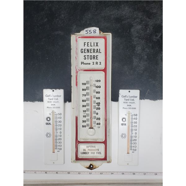 3 vintage thermometers