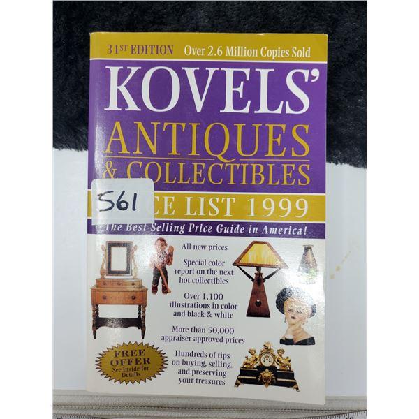 kovel's price guide 1999