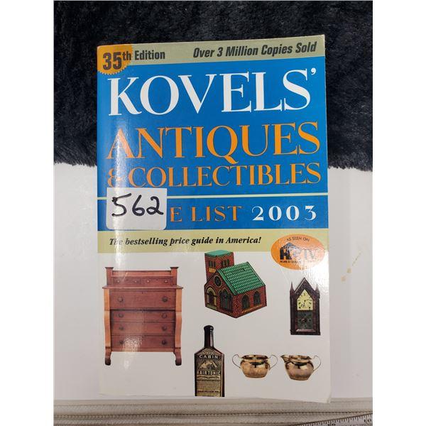 kovel's price guide 2003