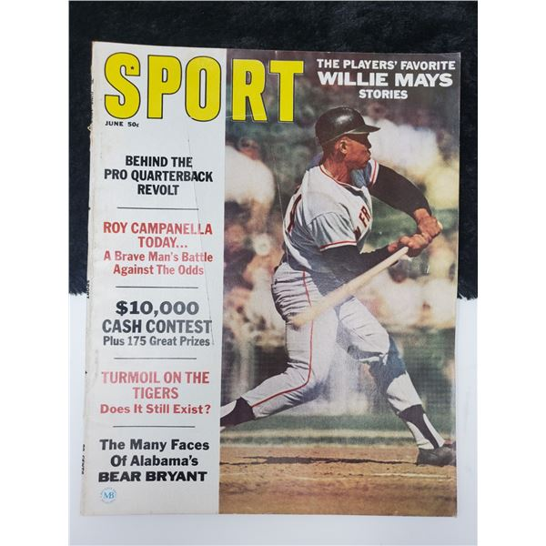 1967 sport magazine (willie mays on cover)