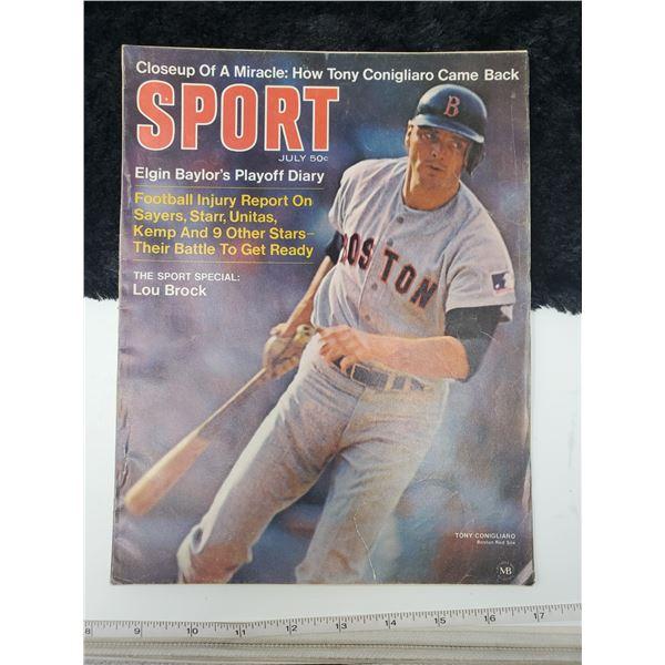 1969 sport magazine (tony congliaro on cover)