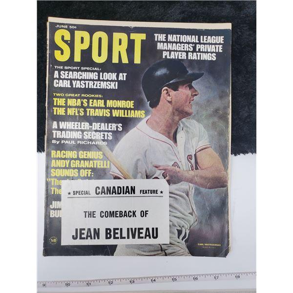1968 sport magazine (jean beliueau)