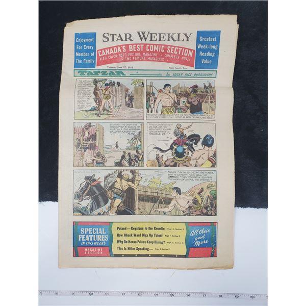 1953 star weekly comics section (tarzan)
