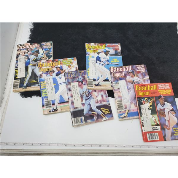 6 1980's baseball digest
