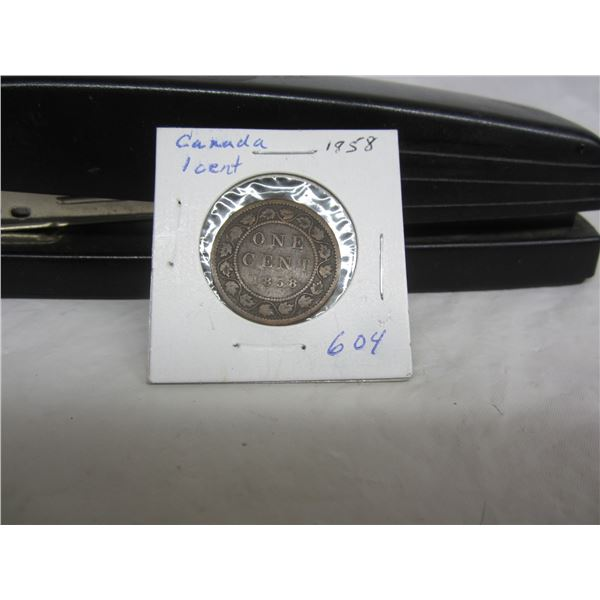 Rare Canadian 1858 Large Penny