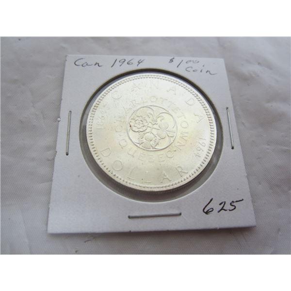 Canadian 1964 Silver Dollar