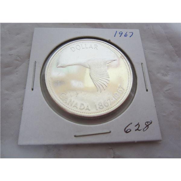 Canadian 1967 Silver Dollar