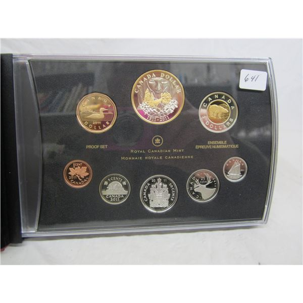 Canadian 2011 Proof Set most coins Sterling