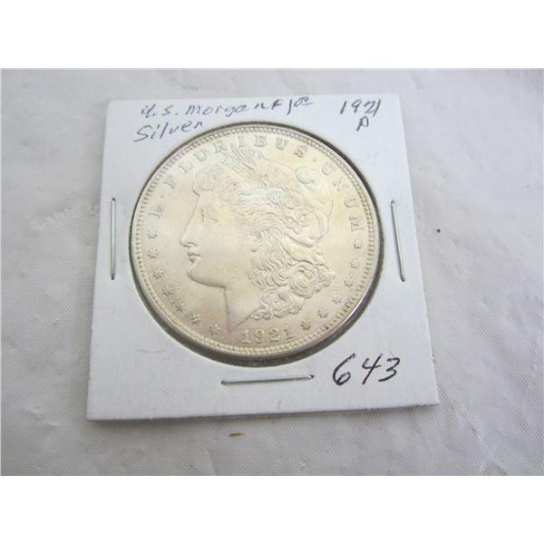 US Morgan 1921 P Silve Dollar