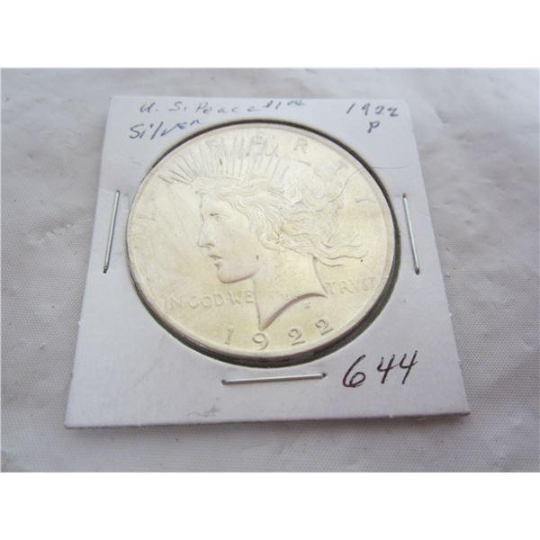 US Peace 1922 P Silver Dollar