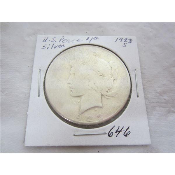 US Peace 1923 S Silver Dollar