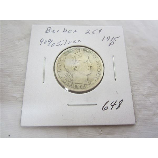 US Barber 1915 P Quarter