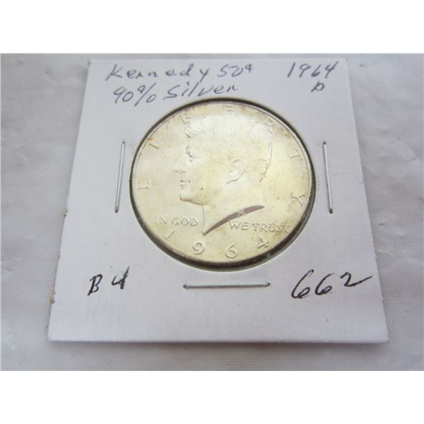 1964 D Kennedy Silver Fifty Cent piece