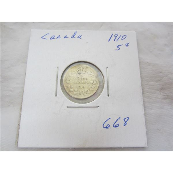 Canadian 5 Cent 1910