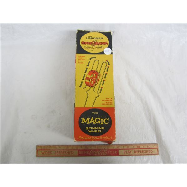 Vintage The Magic Spinning Wheel   Magic Trick with Box