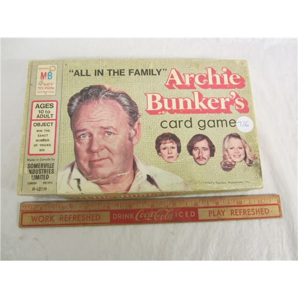 Vintage Archie Bunker card game