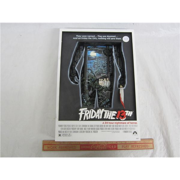 Vintage Friday the 13th 3D Poster Shadow Box