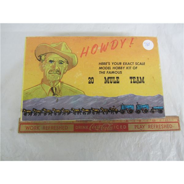 Borax Giveaway 20 Mule Team Model Kit Original Box