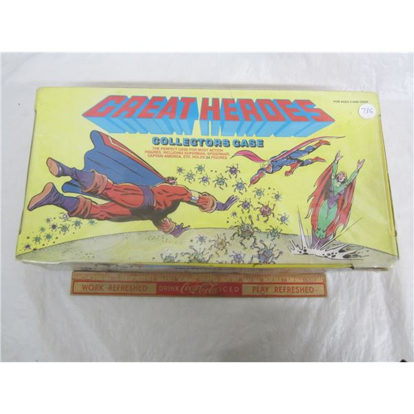 Great Super Heroes Action Figure Collectors Case circa 1984