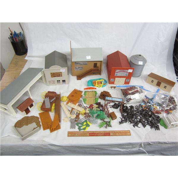 Vintage Small-Town Playset many pieces