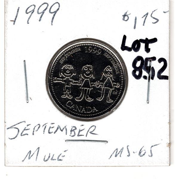 852 1999 SEPTEMBER MULE 25 CENT SCARCE