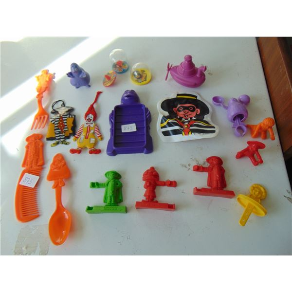 873 1980 TO 1990 MCDONALD'S HAPPY MEAL TOYS