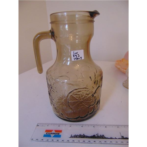 893 ITALY PRESSED GLASS PITCHER