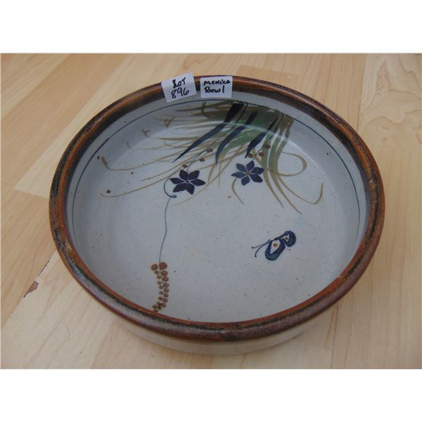 896 SIGNED MEXICAN CERAMIC BOWL