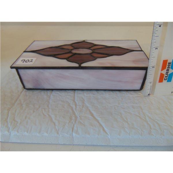 902 STAIN GLASS JEWELRY BOX