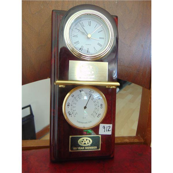 912 50 YEAR CAA MEMBER CLOCK AND BAROMETER