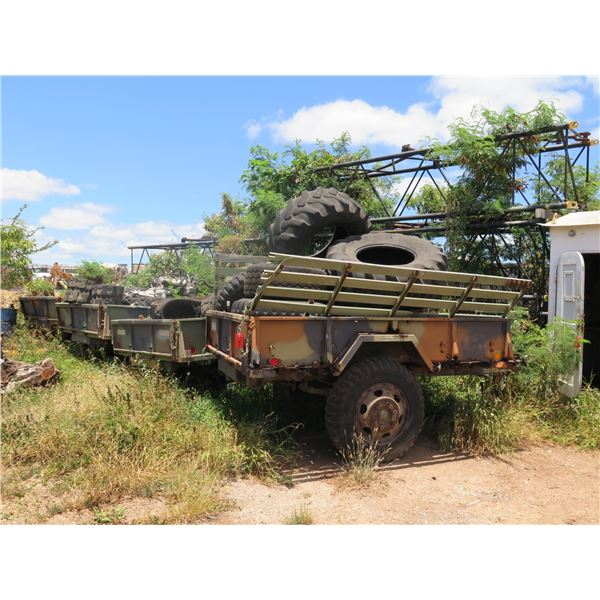 Qty 4 Military Trailer with Contents- (No Paperwork)