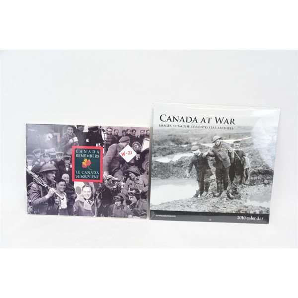 Royal Canadian Mint Canadian Military WW2. Toronto Star Archives WW2 Photo Calendar.