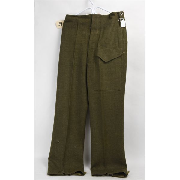 Wool Battledress Trousers 1952