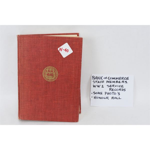 Bank of Commerce WW2 Service Records