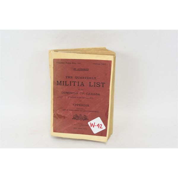 Dominion of Canada Militia List 1917