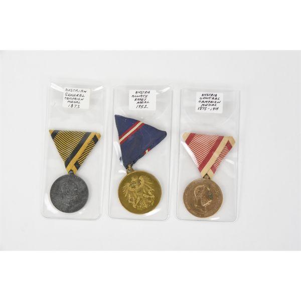3 Austrian Medals