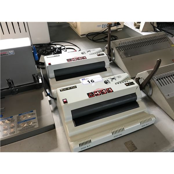 AKILES ROLL COILS BINDING MACHINES - ONE HAS CONDITION ISSUES