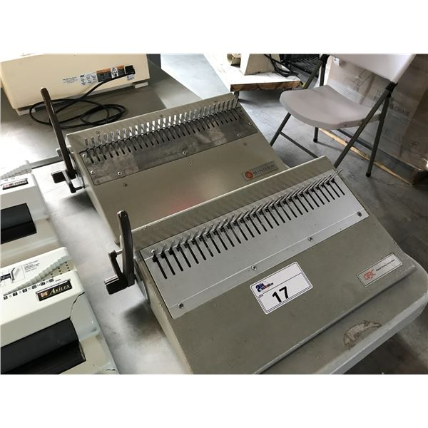 2 GBC MANUAL BINDING MACHINES