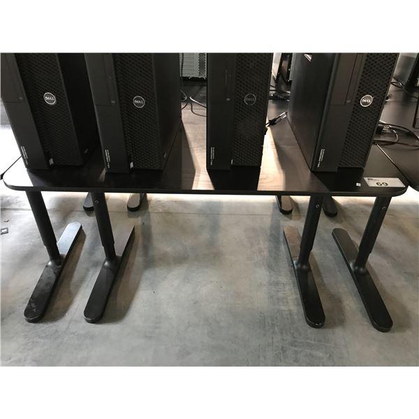 BLACK 4 X 2.5' ADJUSTABLE HEIGHT COMPUTER TABLE