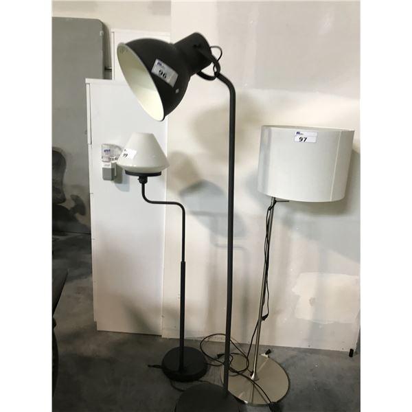 BLACK METAL INDUSTRIAL  STYLE FLOOR LAMP